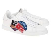 Leder-Sneaker mit Patches