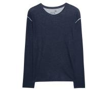 Kaschmir-Mix-Sweatshirt  // Sweat Cash Mix Deep Blue