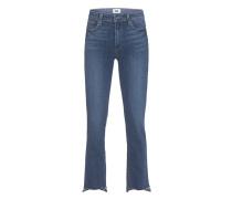 Straight Leg Jeans mit Fransensaum  // Jacqueline Straight Lane