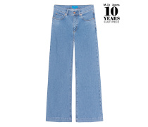 Weite Flare Leg Jeans  // Topanga Crop Flare Blue