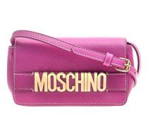 Leder-Schoulder-Bag  // Label Lettering Pink