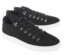 Low-Top Nubukleder-Sneakers  // Mountain Cut Matt Nubuck Black