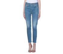 High-Rise Cropped Skinny-Jeans