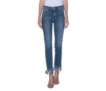 Gerade geschnittene Jeans  // Jaqueline Straight Indigo Tassel