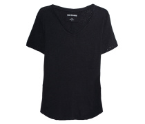 Baumwoll-Leinen-T-Shirt  // Pigment Dyed Black