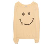 Destroyed-Sweatshirt mit Smiley