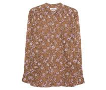 Bluse mit floralem Print  // Mexika Brown