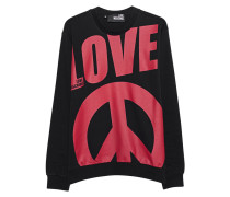 Sweatshirt mit Logo-Print  // Love Peace Cotton Black