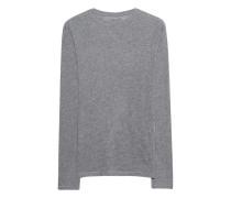 Kaschmir-Longsleeve  // Deluxe Teeshirt Gris Chine