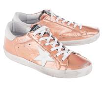 Metallische Glattleder-Sneaker  // Superstar Caramel/White Star