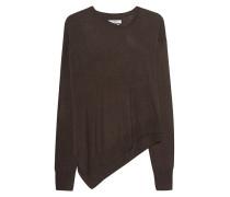 Asymmetrisch geschnittener Pullover  // Astoni Oliv