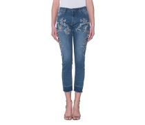 Jeans mit Strass-Applikation  // Rhinestone Vintage Denim