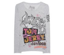 Longsleeve mit Pailletten und Strass  // Tom&Jerry Cartoon Forever