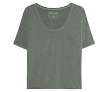 T-Shirt im Burnout-Finish  // V-Neck Dusty Olive