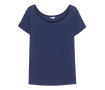 Modal-Mix-T-Shirt  // Rib Collar Navy