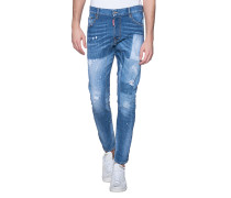 Slim-fit Jeans mit Patches