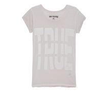Boyfriend-T-Shirt mit Print  // Boxy Crew True Jet Silver Beige