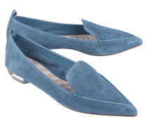 Spitze Veloursleder-Loafers  // Beya Crosta Bluebird