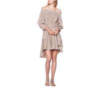 Gestreiftes schulterfreies Kleid