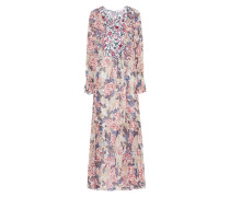 Florales Maxikleid mit Volants  // Robe Floral Natural White