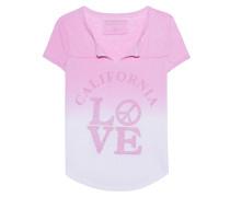 T-Shirt mit Farbverlauf und Print  // Love Artwork Pink