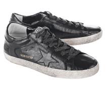 Glattleder-Sneaker in Kroko-Optik  // Superstar Black Cocco