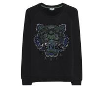 Baumwoll-Sweatshirt mit Logo-Stickerei  // Relaxed Stripe Black
