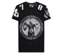 Baumwoll-T-Shirt mit Print  // Aric Black