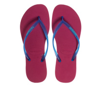 Gummi-Zehensandalen  // Slim Cherry Red Blue