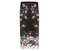 Floraler Midi-Rock aus Seiden-Crêpe  // Maira Rose Silk Black