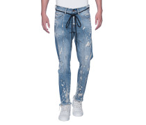 Distressed Cropped Slim-Fit-Jeans