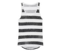 Leinen-Tanktop  // Stripe Courte Black White