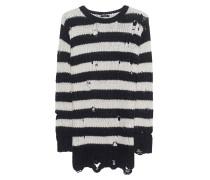 Gestreifter Grobstrick-Pullover  // Shredded Stripe