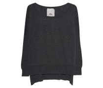Oversize-Feinstrick-Pullover  // Sweat Keeping Dark Grey