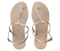 Zehentrenner-Sandaletten aus Gummi  // You Reviera Sand Grey