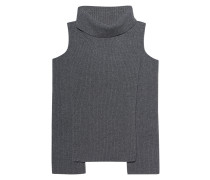 Feinstrick-Pullover mit Cut-Outs  // Cold Shoulder Flanell