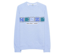 Sweatshirt mit Label-Print  // New Logo Light Blue