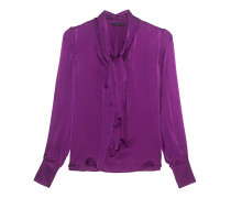 Silky Blouse Bow Lilac