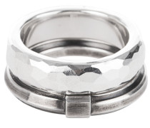 Ring-Set aus Sterling-Silber  // Combination Crossover Silver
