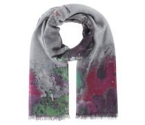 Kaschmir-Schal mit Print  // Fine Ring Aquarel Green Multi