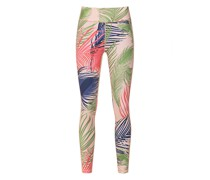 Yoga-Leggings mit Feder-Print