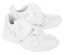 Sneakers mit Oversize-Satinschleife  // Prevail Heart White