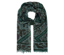 Tuch mit Paisley Print  // Fine Knit Twist Diamond Flower Green
