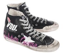 Canvas-Sneakers mit Print  // Francy Black
