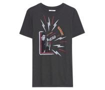 Baumwoll T-Shirt mit Print  // Dewel Faded Black