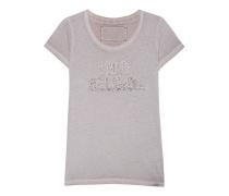 Strassbesetztes T-Shirt  // Crewshirt Sparkle Beige