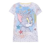 T-Shirt mit Strass  // Tom & Jerry Pearl Multi