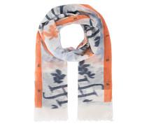 Gemusterter Kaschmir-Schal  // Felted Stole Print Vibrate Orange
