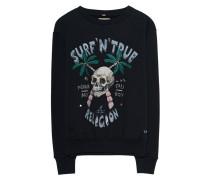 Baumwoll-Sweatshirt mit Print  // Surf Skull Black
