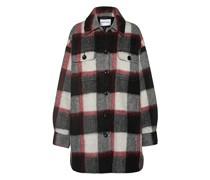 Karierte Oversize Woll-Mix Jacke mit Brusttaschen
